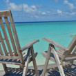 Tropical beach chairs — Stock Photo #37900767