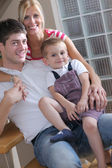 Family at home — Foto Stock