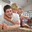 Family at home — Stock Photo #38770509