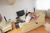 Family at home — Stockfoto