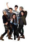 Gelukkig tieners groep — Stockfoto