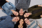Happy teens group — Stock Photo