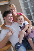 Family at home — Stock Photo