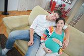 Family pregnanrcy — Stock Photo
