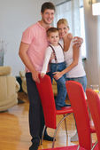 Happy young family with kid — Stock Photo