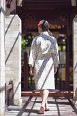 Woman at spa resort — Stock Photo
