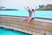 Couple at beach — Stock Photo