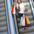 Woman at shopping mall — Stock Photo