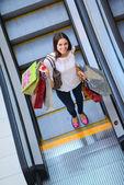 Woman at shopping mall — Stock Photo