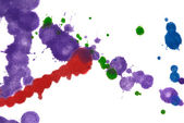 Color splashes background — Stock Photo