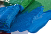 Colored paint splashes — Stock Photo