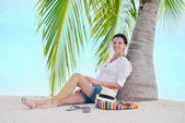 Femme profiter des vacances d'été — Photo