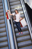 Woman at shopping mall — Foto de Stock