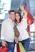 Coppia shopping — Foto Stock