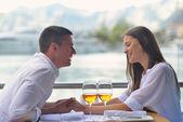 Couple having lunch — Stock Photo