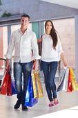 Pár nakupování — Stock fotografie