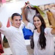 Couple shopping — Stock Photo
