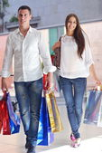 对购物的夫妇 — 图库照片