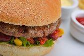 Menú hamburguesa — Foto de Stock