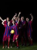 Игроки в футбол — Стоковое фото