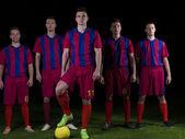 Voetbal spelers team — Stockfoto