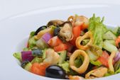 Tasty seafood salad — Stock Photo