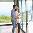 Couple relax at home — Stock Photo #47333923