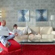 Couple relax at home — Stock Photo #49254411