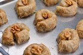 Traditional dessert Turkish baklava — Stock fotografie