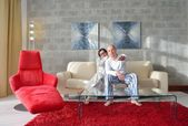 Couple relax at home — Foto de Stock