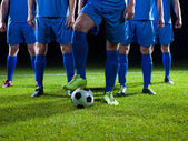 Soccer players team — Stock Photo