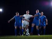 Duelo de futbolistas — Foto de Stock