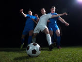 Piłkarze pojedynek — Zdjęcie stockowe