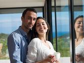 Rilassato giovane coppia — Foto Stock