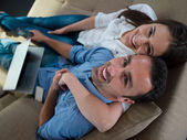 Relaxed young couple — Stock Photo
