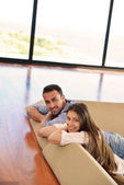 Couple at home — Stock Photo