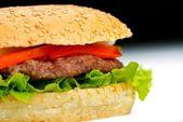 Hamburger close-up — Stockfoto