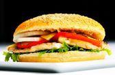 Chicken Hamburger close up — Zdjęcie stockowe