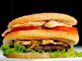 Hamburger zblízka — Stock fotografie