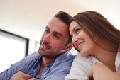 Пара  дома — Стоковое фото