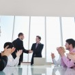 Group of business at meeting — Stock Photo #5291987