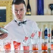 Pro barman prepare coctail drink on party — Stock Photo #5602072