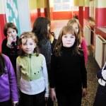 Happy children group in school — Stock Photo #5816536