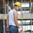 Hard worker on construction site — Stock Photo #6719222