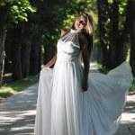 Beautiful bride outdoor — Stock Photo #6978848