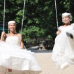 Beautiful bride outdoor — Stock Photo #7091566