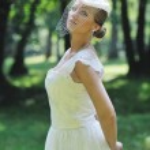 Beautiful bride outdoor — Stock Photo #7094040