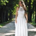 Beautiful bride outdoor — Stock Photo #7094702