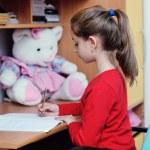 Girl doing homework — Stock Photo #8491721