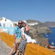 Happy young couple tourists in greece — Stock Photo #8492977